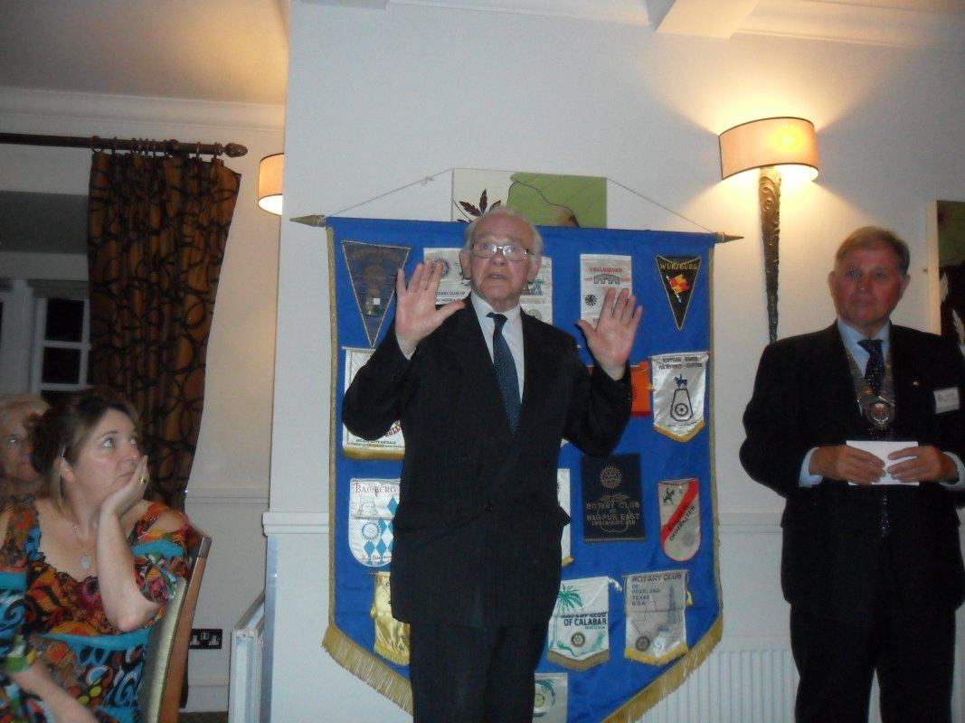 Cheque Presentation Dinner - 15th Sept 2016 - Lord Petre delights the audience with an anecdote