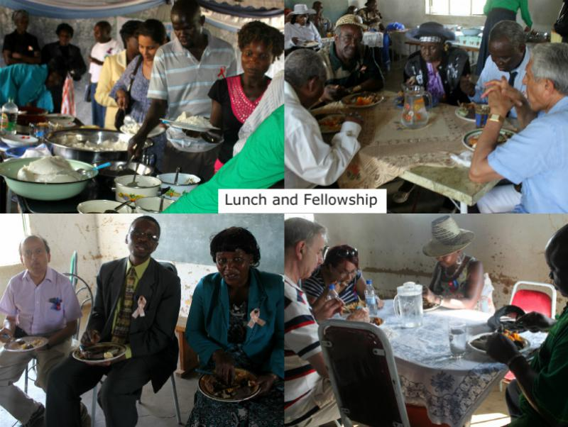 The Chikuku Youth Centre Project -  Zimbabwe - Fresh vegetables and meat from the farm - a resounding success indeed.