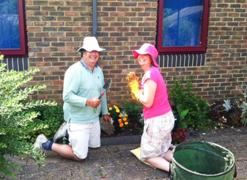 Community Service - garden maintenance at Milford Hospital