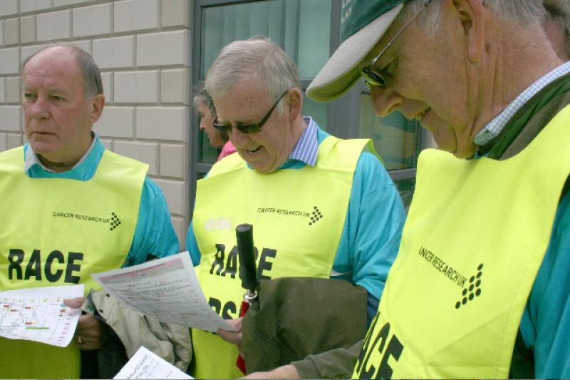 MARSHALLING RACE FOR LIFE - Getting instructions