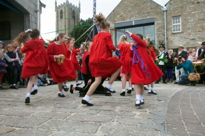 Mayday - Maypole Dancing by 'Kids R Us' on the Harbour Front
