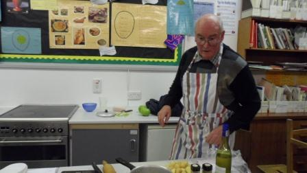 Master Chef, With Pippa at  Newent School  - Working on his Masterpiece
