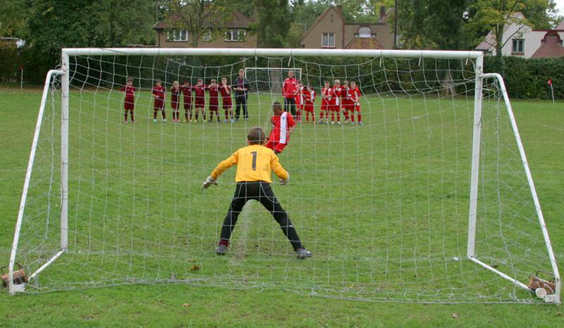 Another Fantastic Primary Schools Football Tournament! - Oakmere take a penalty in the final