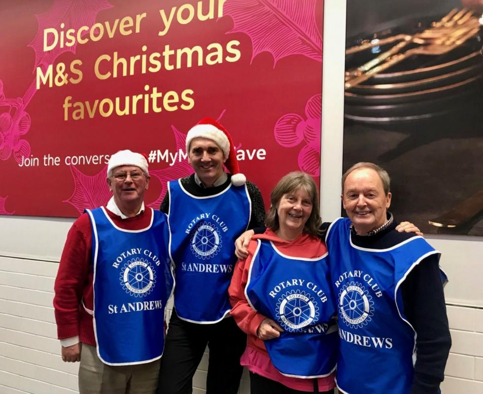 Bag packing at M & S -