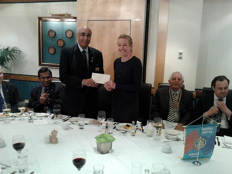 Community Activities - The Chairperson of Pimlico Puffins received a cheque for 500 pounds on 14th May 2014