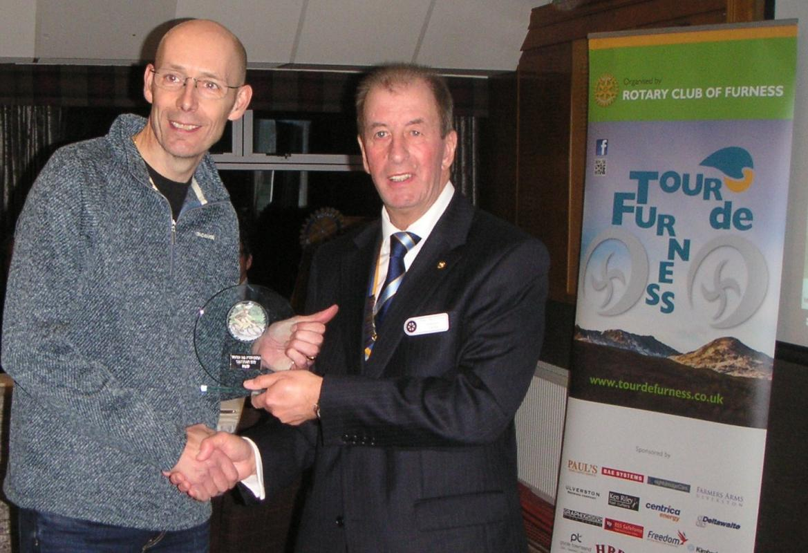 Tour de Furness 2017 - Prize Presentation - Neil Grace took first place.