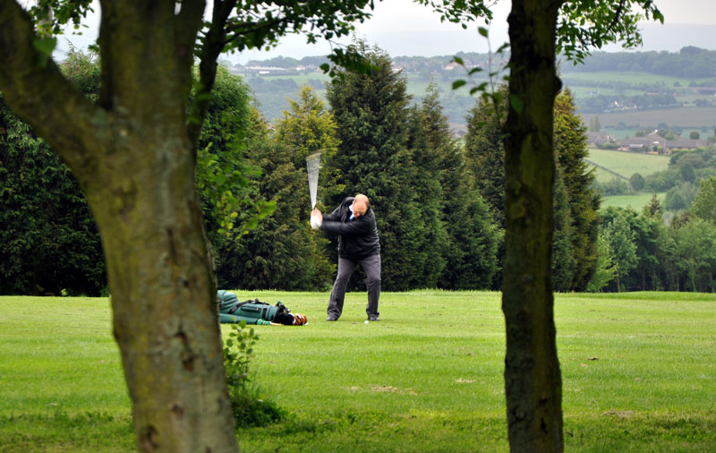 Outside visit - Golf Evening 2012 - nigel on the fairway