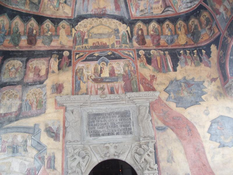 Thame Inner Wheel and Rotarians at Sinaia Forever 2015 - inside the old church