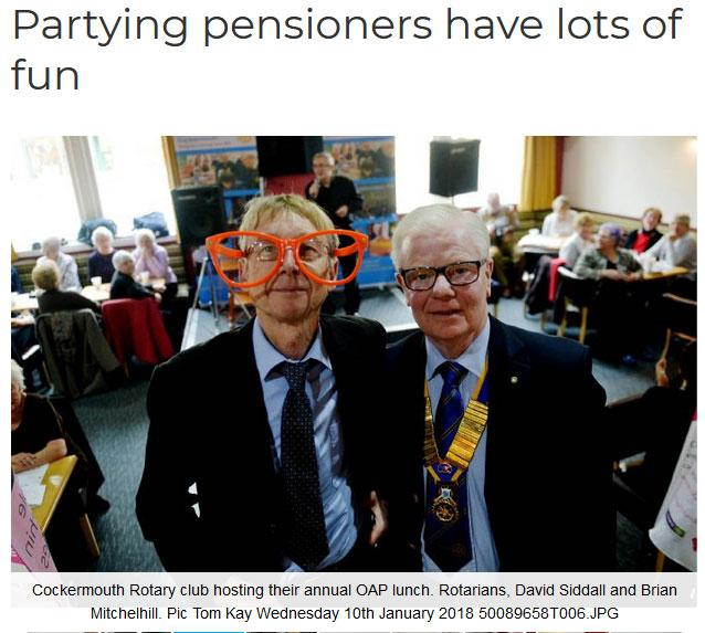 Christmas Party For Town S Seniors