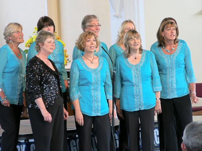 Community Service - ladies choir performing at the Allsorts Concert