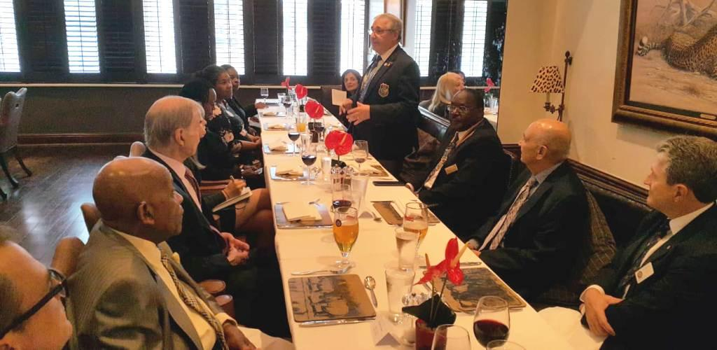 District Governor's visit on 19th September 2018 - Lunch Fellowship at the Rotary Club of Westminster West