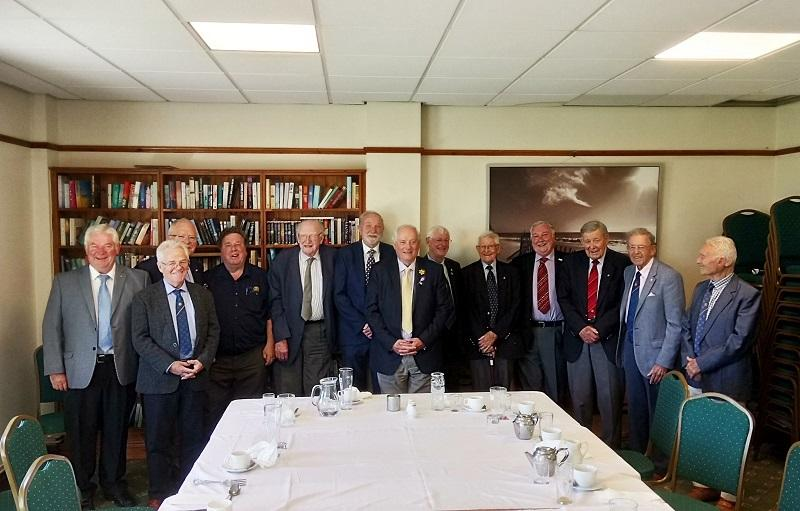 Club Presidents - A tradition of this Club is to have a Past Presidents Lunch to welcome and emphasize support of the incoming President. Here Paul Cotter at PP's Lunch 2019.