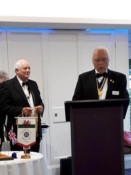 Club Presidents - New President Paul and President Elect Malcolm Latham at Handover 26/06/19.