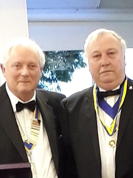 Club Presidents - President Paul Cotter and Immediate Past President Paul Gregory at Handover on 26/06/19.