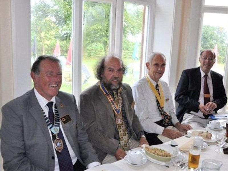 Hand-Over and Presentation - The District Governor comes to dinner.