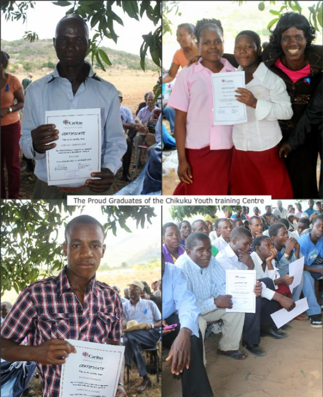 The Chikuku Youth Centre Project -  Zimbabwe - The Proud Trainees and their Families were pleased to receive their vocational certificates.