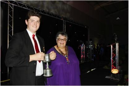 Pupil of the Year - President Gail with Daniel Barber