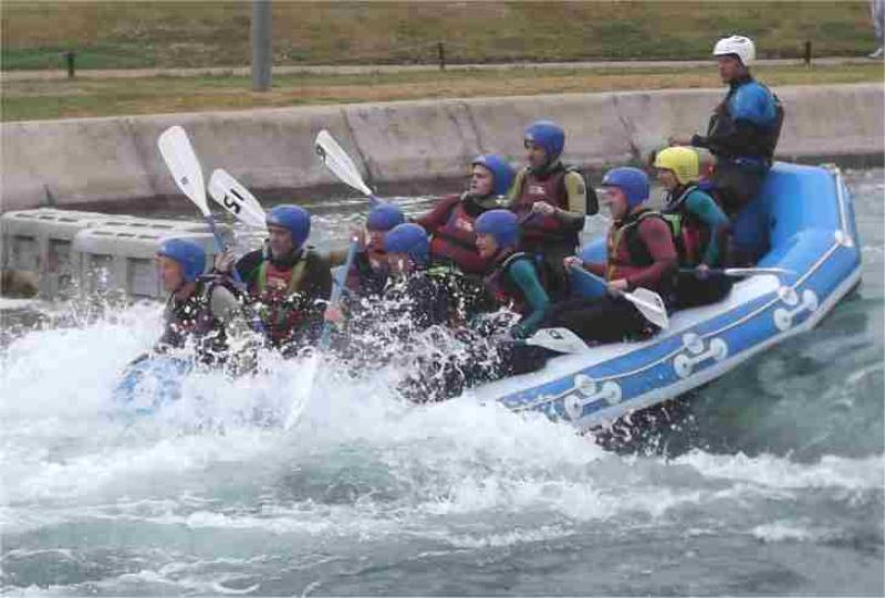 Visit to Lee Valley White Water Centre - raft 1