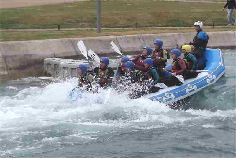 Visit to Lee Valley White Water Centre - raft 2
