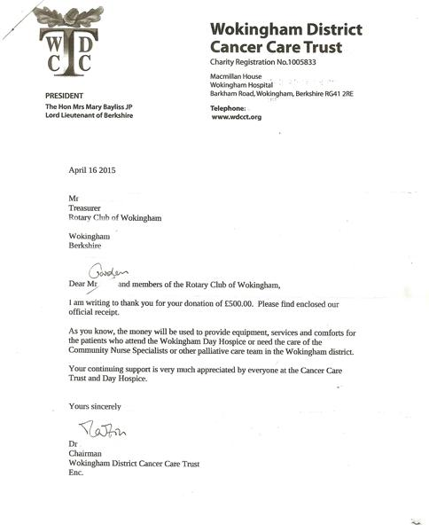 Thank You Letter For Support And Help from www.rotary-ribi.org