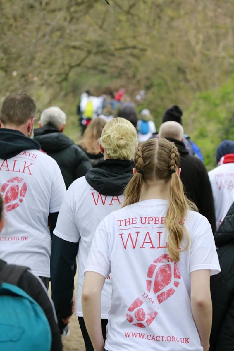 Walking for 'The Upbeats' - 2019. -