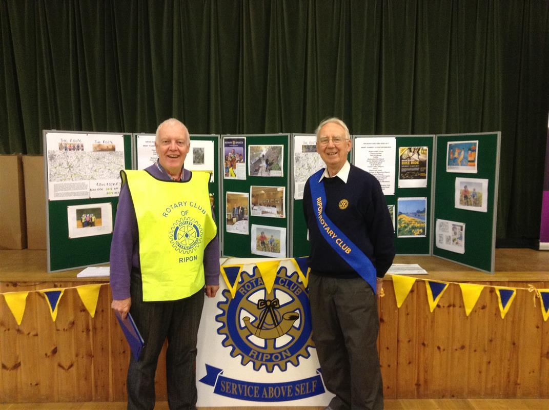 Ripon Rotary Bike Ride - Organiser Chris Eyes is shown left with Rodney Wilson.