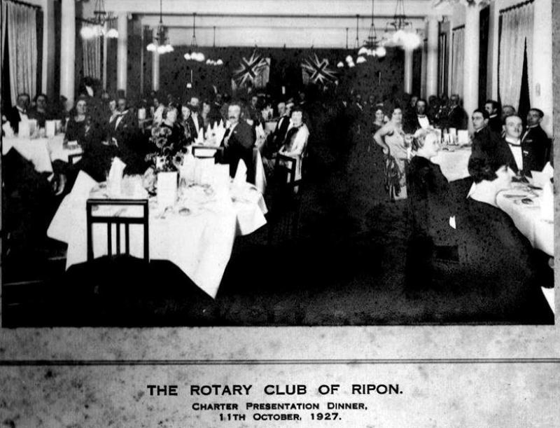 Rotary Club of Ripon - Charter Night - rotary 1927 charter dinner 0002 cropped (Copy)