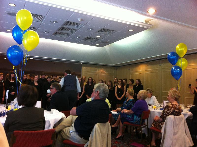 About our Club - The fantastic Longcroft school choir at a charter celebration