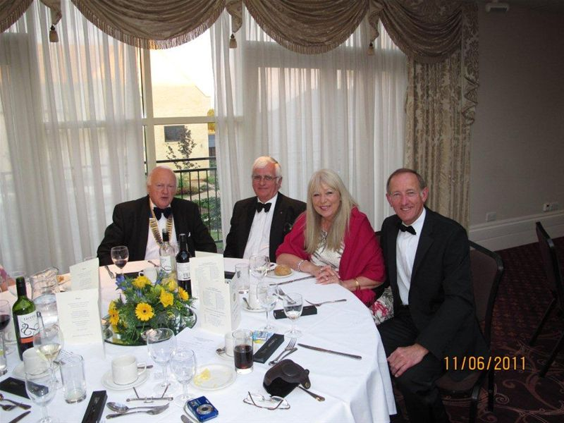 25th Anniversary Dinner Picture Collage -