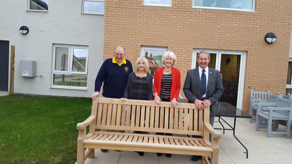 Rotary Bench at Napier House -