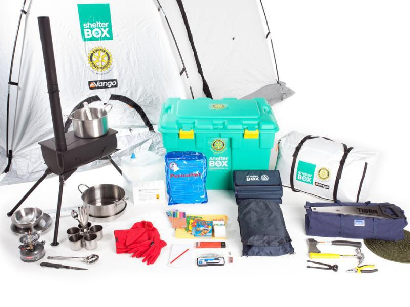 Rotary partners with Shelterbox for disaster aid - Shelterbox Contents