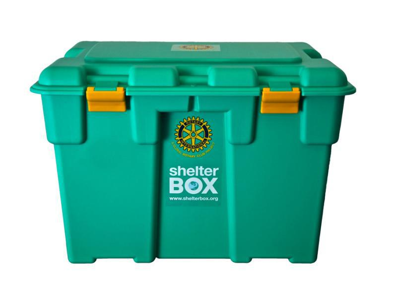 Rotary partners with Shelterbox for disaster aid - Shelterbox - ready to ship
