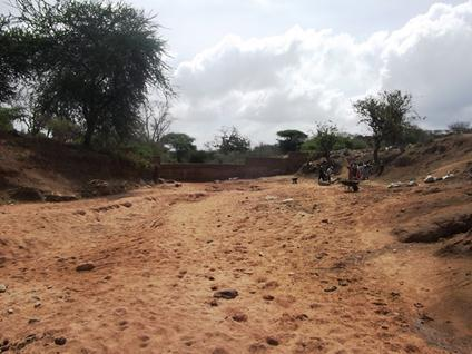 We support Sand Dams! - Before