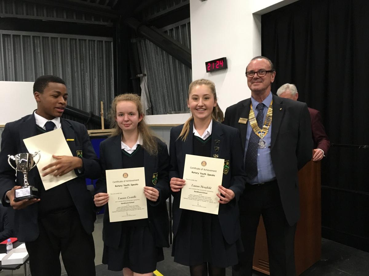 Highdown School - Youth Speaks competitions - Youth Speaks Competition 2017 Senior Section Abbey School winners of the Senior Section