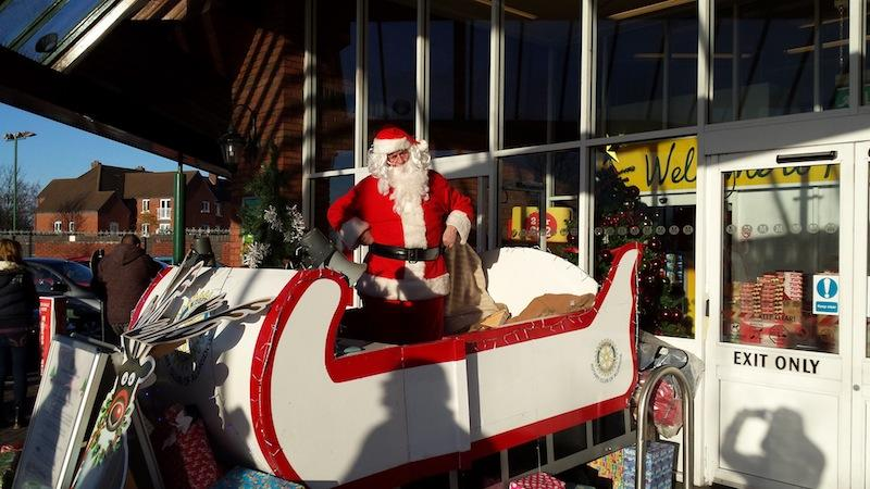 Santa visits Morrisons in Aldridge - santa at morrisons 1
