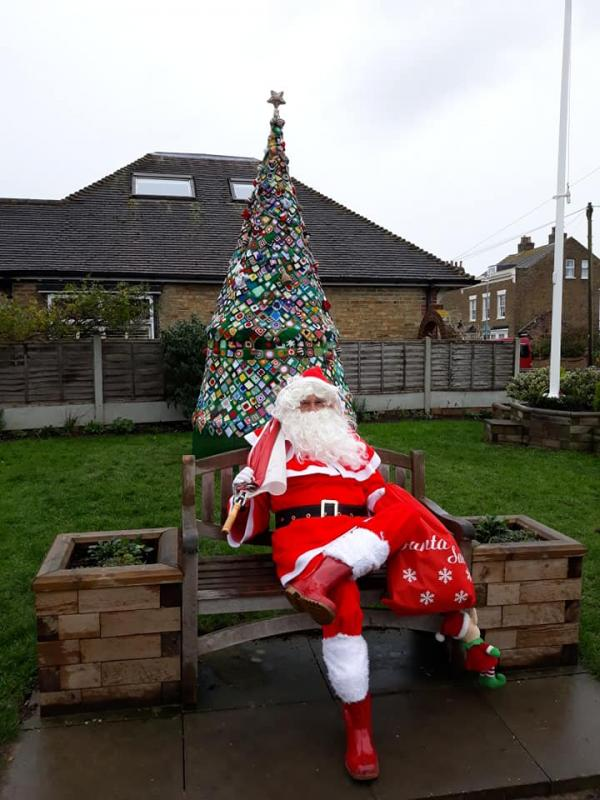 Pop-Up Santa's Christmas journey day 13 (second venue) - All that marching round  the village has worn out the old boy. Time to get back on the sleigh and head home to feed and bed down the reindeer. Then have your dinner and a large glass of wine.