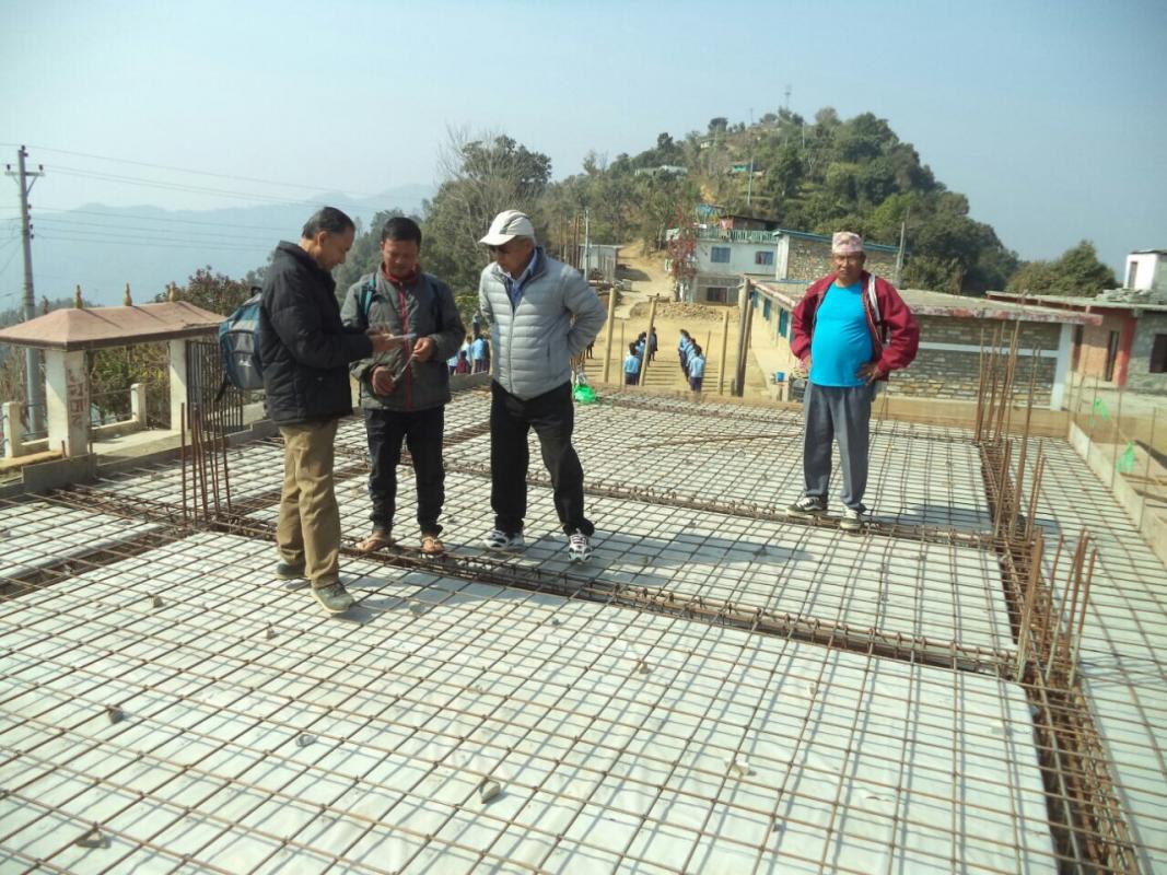Nepal school project - Roof inspection