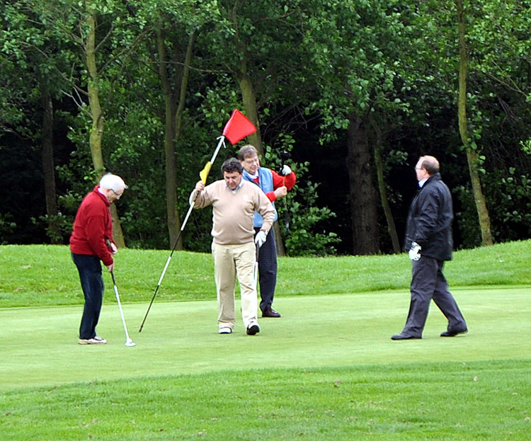 Outside visit - Golf Evening 2012 - Nigel John K John S and Martin form a foursome.