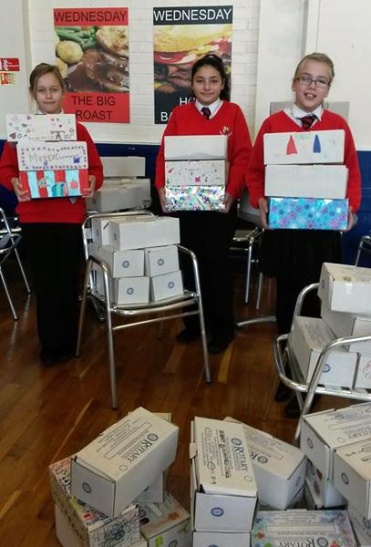 Rotary Shoebox Appeal - Shoeboxes ready