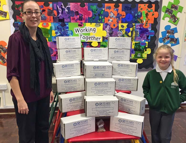 Rotary Shoebox Appeal - Look how many we filled.