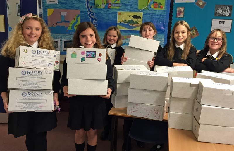 Rotary Shoebox Appeal - Most pupils were really pleased to have the chance to take part.