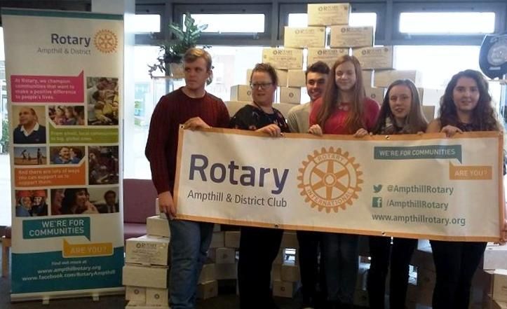 Rotary Shoebox Appeal - Samuel Whitbread students have made a huge contribution this year