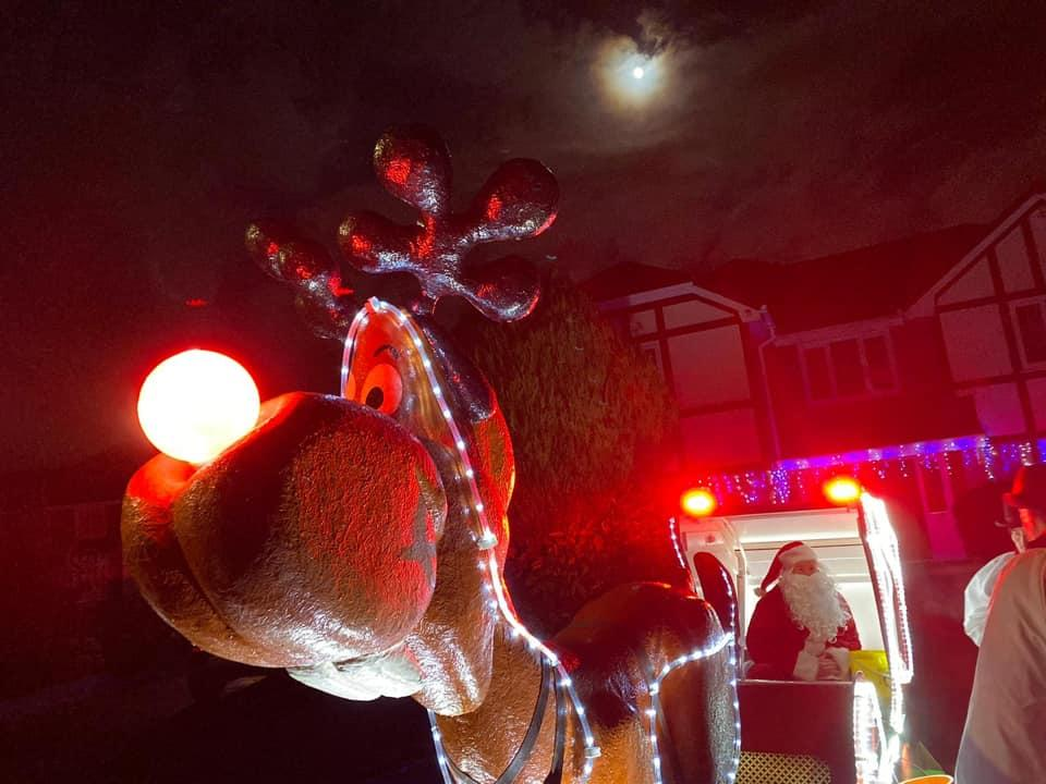 Christmas Sleigh (Winter) - Faithfully guiding Santa around the streets of Bolton to visit the youngsters.