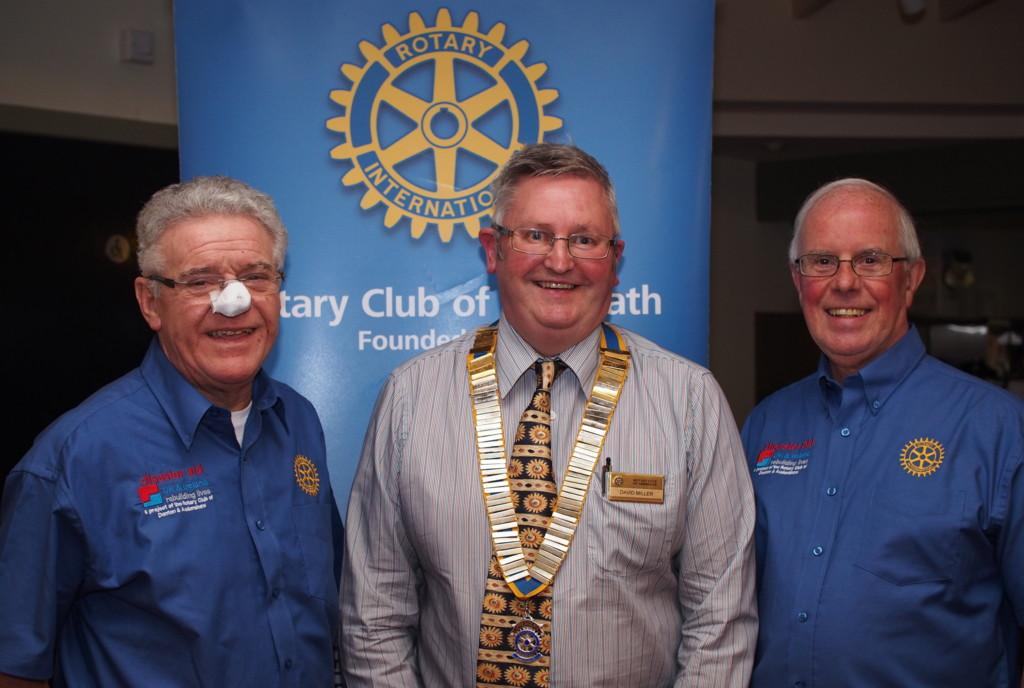 Club Photo Gallery July 2015 to June 2016 - The Club heard about Disaster Aid, an international support programme, from Alan Duncan (L) and John McLeod (R) in April 2016
