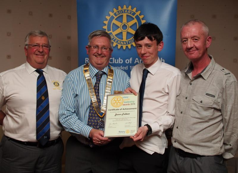 Club Photo Gallery July 2015 to June 2016 - In September 2015, Jason Talbert spoke to the Club about his Rotary Youth Leadership Award (RYLA). He was accompanied by his father Stephen Talbert.  Harry Simpson (L) is the Club's RYLA Development Officer