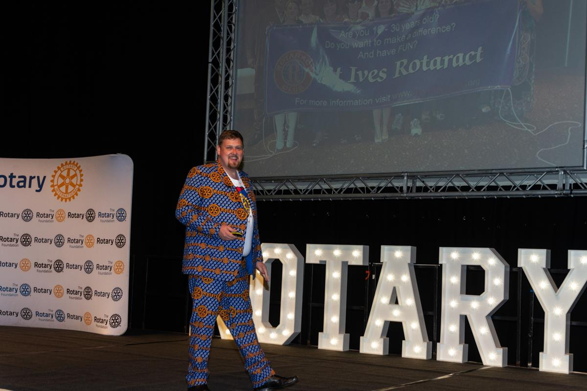 Conference 2019 pictures - Evan Burrell, Let's have fun in Rotary