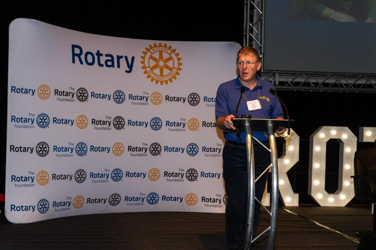 Conference 2019 pictures - President Worsley club Tony Clayson