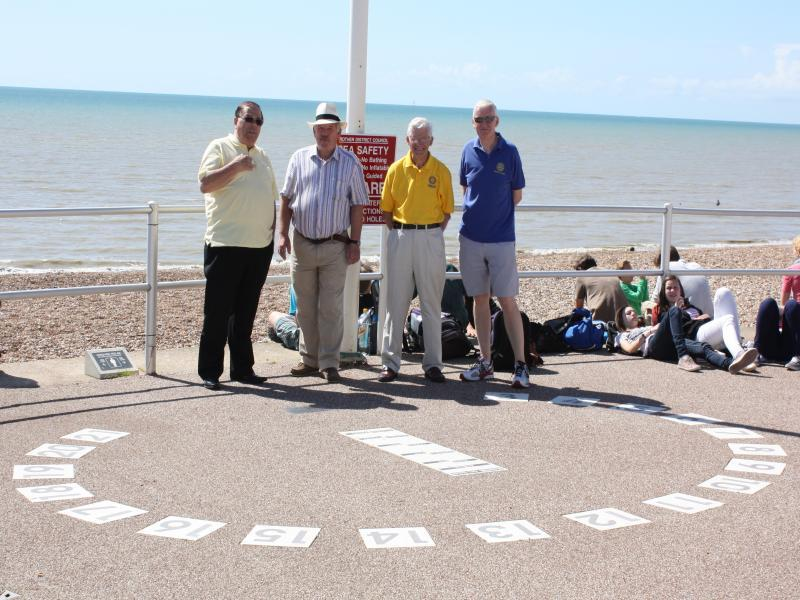 Rotarians of Bexhill unite to celebrate their new Sundial - sun dial7 23-8-12