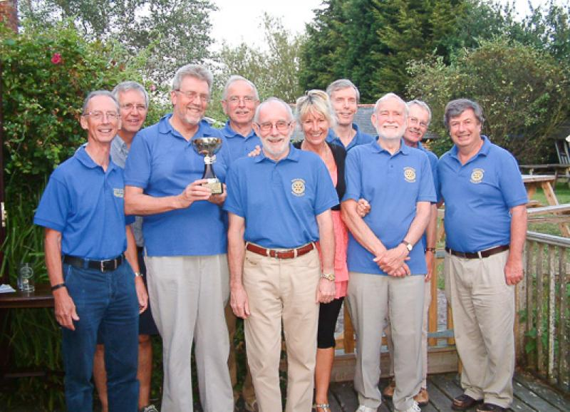 Social and Sports - The winning skittles team from 2014 district competition