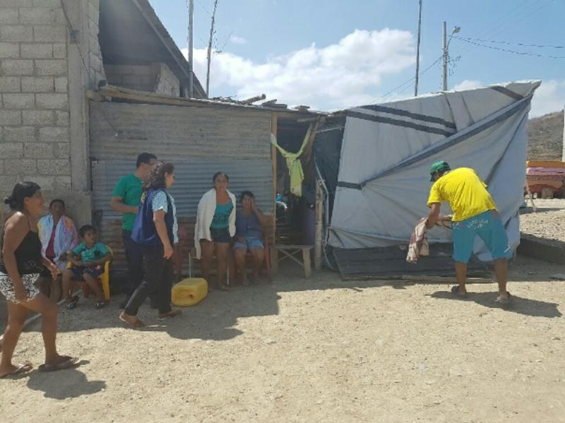 ECUADOR EARTHQUAKE APPEAL - Temporary accommodation